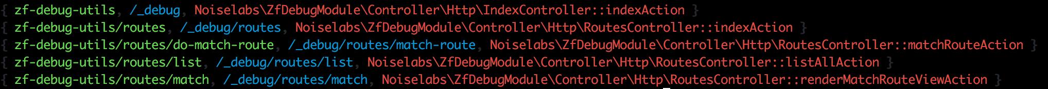 Console - List routes
